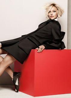 Sasha Pivovarova by Jason Kibbler for Vogue Korea December 2014- Simone Rocha