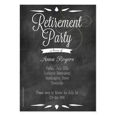 elegant black white retirement party invitations retirement