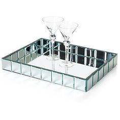 For the most glamorous evenings, serve your lively libations on our exclusive Mirage mirrored tray. $79.95 #zgallerie