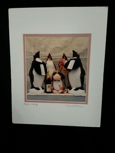 SIGNED Opus The Penguin and Friends  Photo By Nels Johnson 8 X 9 ins