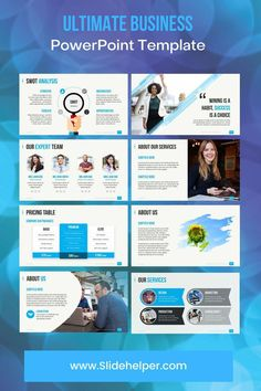 The only PowerPoint template you will ever need to create a professional business presentation. Professional Powerpoint Templates, Business Powerpoint Templates, Microsoft Powerpoint, Pricing Table, Swot Analysis, Business Presentation, Company Profile, Small Business Marketing, The Help