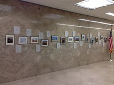 A view of the photos in the exhibit at the State Capitol.