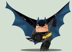 Adorable Action-Hero Drawings - Batman Canvas Art - Trending Batman Canvas Art - Adorable Action-Hero Drawings The Ivan Camelo Superhero Illustrations are Cute and Lovable Batman And Batgirl, Im Batman, Batman Art, Superman, Hero Marvel, Marvel E Dc, Dc Comics, Toy Art, Comic Books Art