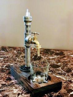 Liquor Dispenser - Stainless Steel Beverage Dispenser Drink dispenser Gift - Health and wellness: What comes naturally Whiskey Dispenser, Alcohol Dispenser, Beverage Dispenser, Whisky Spender, Arte Bar, Stainless Steel Pipe, Liqueur, Vegetable Drinks, Dark Stains