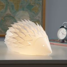 A whimsical nightlight to leave on a kitchen counter or a hall table.