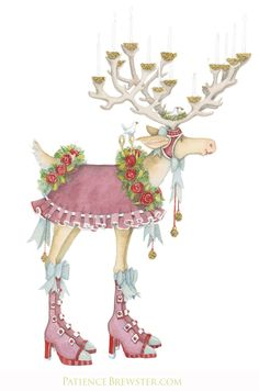 """""""Donner"""" (or Donder) has once again changed her name (just temporarily). She simply saw herself as """"Donna"""" the minute she pulled on those tall pink boots - Even tiny reindeer can be fickle."""