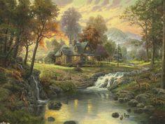 Mountain Retreat ~ Thomas Kinkade