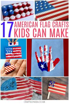 The absolute best American flag crafts for kids - these American patriotic crafts are perfect for 4th of July celebrations. Easy red white and blue crafts.