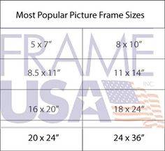 the most popular picture frame sizes for rectangular or square picture frames photo frame sizes