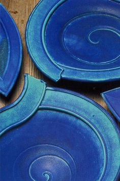 Persian blue dishes with extruded rims: 1992