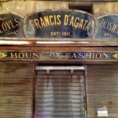 Old shop sign in #Valletta, #Malta.
