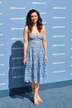 Mozhan Marno Photos - Mozhan Marno attends the NBCUniversal 2016 Upfront Presentation on May 2016 in New York, New York. Diego Klattenhoff, Megan Boone, Strapless Dress Formal, Formal Dresses, Beautiful Celebrities, Celebrity Crush, Comedians, Presentation, Detective Series
