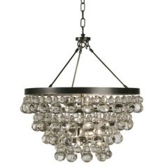 Bling Chandelier/Semi-Flushmount by Robert Abbey--there is a knock off on overstock for under $300