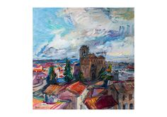 The view of the Basilica de San Vicente from by AnnaFineArtStudio