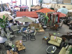 Great selection of patio furniture and accessories!
