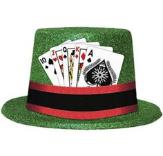 Casino Black Top Hat - Party City