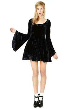 Betsey Johnson Spellbound Velvet Dress