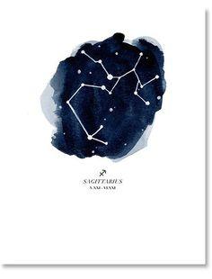 Sagittarius Zodiac Constellation Print
