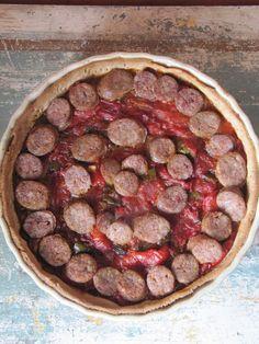 La cuisine d'ici et d'ISCA: Quiche à la piperade et aux saucisses confites
