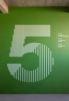 Sinalização - Duarte Murtinho - ps.2 arquitetura + design Parking Solutions, Wayfinding Signs, Factory Design, Signage Design, Pedestrian, Architectural Elements, The Neighbourhood, Environment, Typography