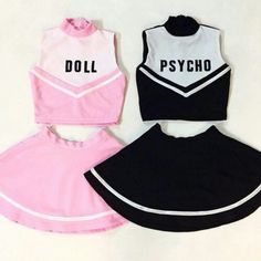 Me and my best friend are definitely doing this where the doll wears psycho makeup and psycho wears innocent makeup