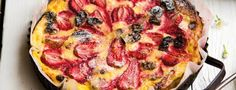 Expect requests for second helpings of this decadent dessert! Bake raspberry doughnuts with fresh custard, lemon curd and raspberries Bbc Good Food Recipes, Sweet Recipes, Cooking Recipes, Cake Recipes, Sugar Free Pudding, Bread And Butter Pudding, Lemon Roasted Chicken, Childrens Meals, Food Shows