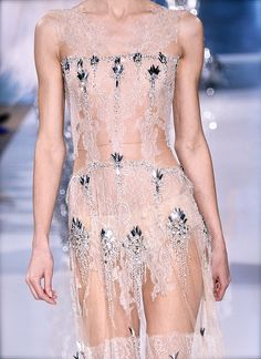 Valentin Yuashkin Paris Fashion Week Chiffon, tulle, lace