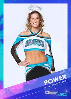 Oh yeah pow Cheerleading Tips, Cheer Stunts, Team Cheer, Cheer Athletics, Cheer Picture Poses, Cheer Poses, Great White Sharks Cheer, Cheer Dance Routines, Cheer Team Pictures