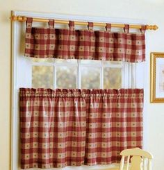 Love this color Cottage Curtains, Country Curtains, Cafe Curtains, Kitchen Curtains, No Sew Curtains, Burlap Curtains, Valance Curtains, Cortinas Country, Country Window Treatments