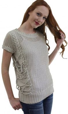 Jackie Unique Ladies Sweater Top In Taupe Wow Couture Clothing Women's Lightweight Sweater Top in Taupe Wow Couture Clothing Top] Burgundy Sweater Dress, Long Sweater Dress, Poncho Sweater, Pullover Sweaters, Western Lace Dresses, Couture Outfits, Vintage Inspired Outfits, Dress For Short Women, Sweaters For Women
