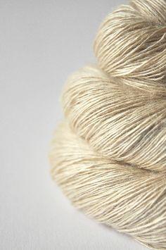 Ghost  Tussah Silk Yarn Fingering weight by DyeForYarn on Etsy, €26.10