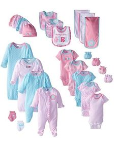 Baby Girls Clothing Set 26 Piece 0 6 Months Gerber Onesies Outfits Caps Gift New #Gerber