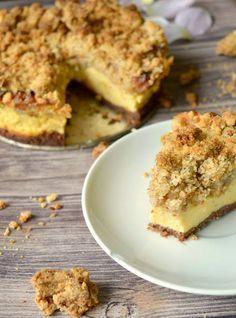 Allerbester Rhabarberkuchen mit Vanillecreme und Butterstreuseln ♥