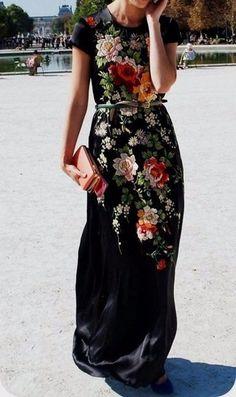 8aa1cf9768c Photo. Black Floral Maxi DressBlack ...