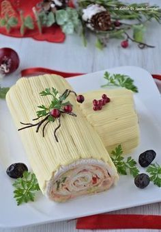 tronchetto di natale salato ♦๏~✿✿✿~☼๏♥๏花✨✿写☆☀🌸🌿❁~⊱✿ღ~❥༺♡༻🌺TU Nov ♥⛩⚘☮️ ❋ Christmas Log, Christmas Dishes, Christmas Cooking, Christmas Treats, Christmas Time, Appetizer Recipes, Appetizers, Sandwich Cake, Xmas Food
