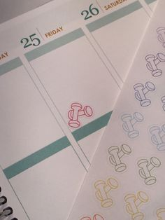 36 colorful workout weight stickers for your Life planner. Removable by TheLittleStickerShop on Etsy https://www.etsy.com/listing/245832049/36-colorful-workout-weight-stickers-for