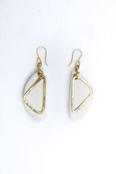 Kumi brass and bone earrings, kenyan jewellery, bone pendant