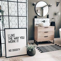Minimalist Bathroom Design, Bathroom Interior Design, Home Interior, Gym Room At Home, Home Wall Art, Bathroom Inspiration, Decoration, Room Decor, Art Decor