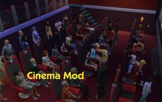 Cinema Mod by simmythesim at Mod The Sims via Sims 4 Updates