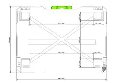"Template for shelves in ""Festool rack"" for van"