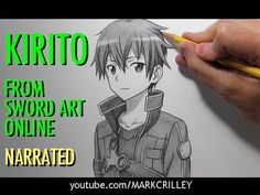 "How to Draw Kirito from ""Sword Art Online"""