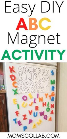 Letter Fridge Matching Game Using Large Magnet Letters Educational Toys For Preschoolers, Indoor Activities For Kids, Preschool Learning, Toddler Activities, Preschool Activities, Learning Time, Early Learning, Letters For Kids, Diy Letters