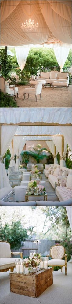 Tented Wedding Reception Lounge Area Ideas | Spring wedding reception ideas