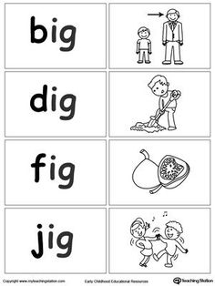 IG Word Family Workbook for Kindergarten | Printable worksheets ...