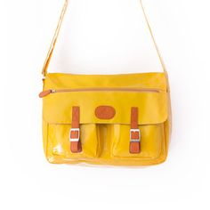 Madison Messenger Bag Yellow, $139, now featured on Fab.