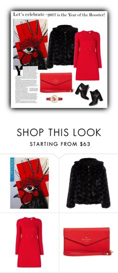 """""""Year of the rooster!"""" by eva-van-aardbei ❤ liked on Polyvore featuring Pierre Hardy, Valentino, Kate Spade and polyvoreeditorial"""