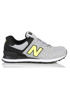 53d5e995e2a E-shop New Balance - Baskets Basses 574 En Cuir Gris New Balance pour femme