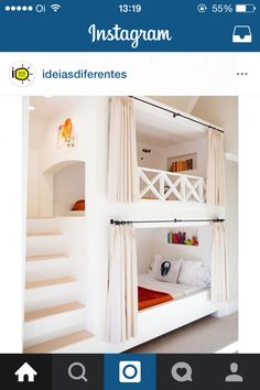 Kids bedroom with custom built in bunk beds. I love the steps instead of a ladde. Kids bedroom with custom built in bunk beds. I love the steps instead of a ladde… Kids bedroom with custom built in bunk beds. I love the steps instead of a ladder Bunk Beds Built In, Modern Bunk Beds, Bunk Beds With Stairs, Kids Bunk Beds, Cool Bunk Beds, Bunk Beds For Girls Room, Bunk Rooms, House Bunk Bed, Custom Bunk Beds