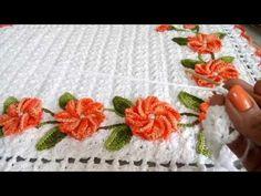 Flor Lina em croche.Flor para aplicação Por Vanessa Marcondes - YouTube