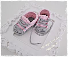 Crochet baby sneakers - 100% organic cotton https://www.facebook.com/vintagesoulknitsandcrafts